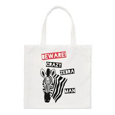 Beware Crazy zebrato MAN PICCOLO BORSA GRANDE - Divertente shopper spalla