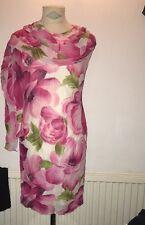Wallis Shift Dress With Matching Wrap / Shawl /scarf UK 12 Wedding Party Races