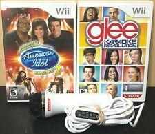 Nintendo Wii Karaoke Revolution Bundle - Glee + American Idol + Mic - Free Ship