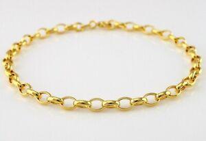 9ct gelbgold oval veröffentlicht armband 19cm/7.5 zoll