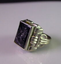Herren Ring - 925er Sterling  - Mythologische Darstellung   Ringgrösse 18