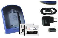 2 Batteries + Chargeur USB EA-BP70A pour Samsung ST65, ST66, ST67, ST68, ST70