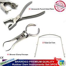 Rubber Dam Kit Basic Endodontic Endo Kit Ainsworth Punch Pliers Brewer Frames