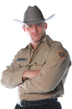 Brand New Sheriff Police Cop Shirt Adult Costume