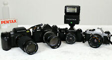 Job Lot 4 Pentax Cameras 35mm SLR Manual MV1 SF7,ME Super, ESII & AF220T FLASH!