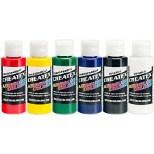 Createx Transparente Primaria 6 2 Oz Colores Aerógrafo Pintura Color Set 5801 - 00