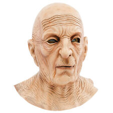 OLD BALD MAN WITH WRINKLED NECK RUBBER MASK HALLOWEEN PARTY FANCY ACCESSORY