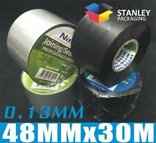 PVC Duct Tape 48MM x 30M x 0.13MM Denko Joining/Sealing Tape Silver Black Nitto