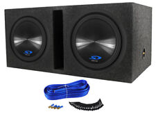 "2 Alpine Type-S SWS-12D4 12"" 3000w Car Subwoofers+Vented Sub Box Enclosure SWS12"