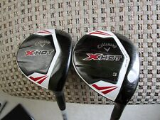 Callaway X HOT 3 wood and 7 wood - right hand
