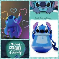 Disney Authentic Stitch Flip Top Water Bottle 22oz Cup Lilo & Stitch Canteen New