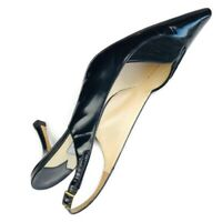 Jimmy Choo Woman's Pointy Black Patent Leather Slingback Left Foot Amputee 37.5