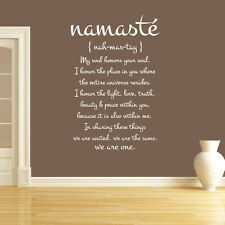 Wall Decal Vinyl Sticker Quote Lettering Word Symbol Namaste Buddha r1348