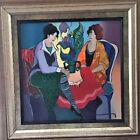 """Itzchak Tarkay """"Faithful and Honest"""" Serigraph in color on canvas. Hand-Signed."""