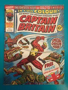 Captain Britain #1 with Free Mask Gift NM Cris Claremont Rare