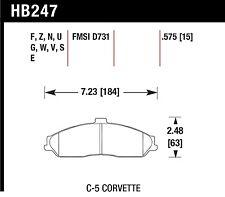 Hawk Performance HB247U.575 Unbeatable Pad And Rotor Wear Disc Brake Pads