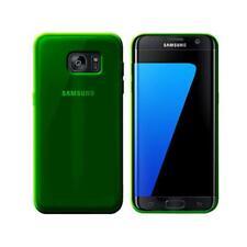 Cover per Samsung Galaxy S7 edge, in silicone TPU trasparente Verde