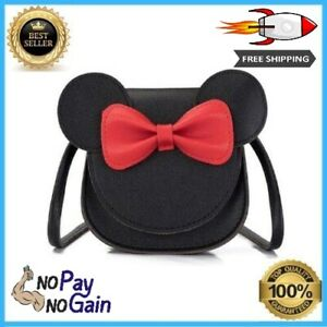 Mini Crossbody Shoulder Bag Coin Purse For Little Girls Toddlers Ear Bowknot New