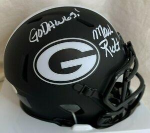 "Mark Richt Signed Georgia Eclipse mini Helmet W ""Go Dawgs!"" JSA  AUTOGRAPHED"