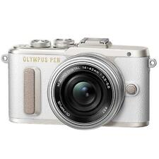 Olympus PEN E-PL8 Mirrorless Camera in White with 14-42mm EZ Lens