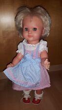 NEU fesches Dirndl in rosa / himmelblau von HELESS, für Puppen von 28 bis 33 cm