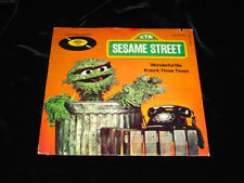 "1978 Sesame Street OSCAR the GROUCH 45 RPM 7"" Record CTW 99062 PROMO RaRe"
