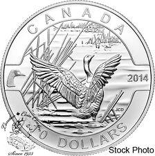 Canada 2014 $10 O Canada Goose Silver Coin