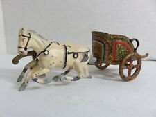 Roman Chariot with Horses Lead Figurine J & Hill Co England