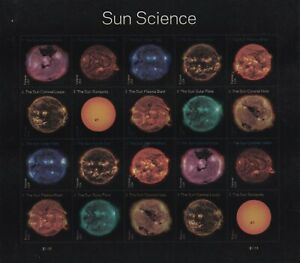 US 5598-5607 5607a Sun Science forever sheet (20 stamps) MNH 2021