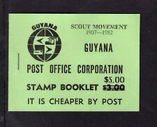 Guyana 1982 $5 on $3 Scout Movement 1907-1982   Booklet SB17