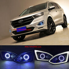 For Ford Edge 2015 -2017 2x LED Daytime Fog Lights Projector angel eye kit
