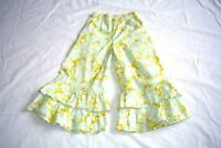Persnickety Double Ruffle Bell Pants Size 7 flowers
