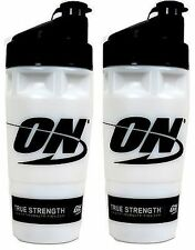 Two Optimum Nutrition 32 fluid oz. Shaker Cups, Made in the USA mixing bottles