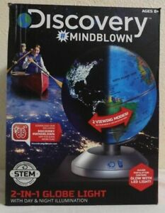 Discovery 2 In 1 Globe Night Light - Educational Toy - Learning Map - STEM Lamp