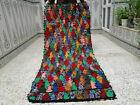 Moroccan Handmade Vintage Beni Ourain Rug Azilal Berber Wool Carpet