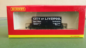 Hornby OO gauge R6598 10T 7-plank wagon, City of Liverpool Co-operative Society