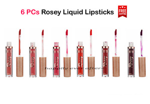 Romantic Beauty Rosey Matte Liquid Lipsticks - All 6 colors Red Shades, NEW