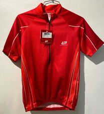 BELLWETHER Mens Cycling Jersey Shirt small Short Sleeve Red 1/2 Zipper white NWT