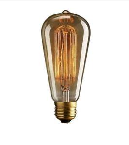 40W E27 Edison filament lightbulb Teardrop Pear x 20