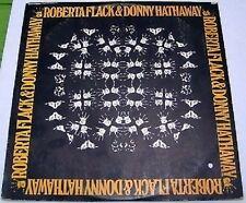"""Roberta Flack & Donny Hathaway LP 12"""" Vinyl 1972 Israel pressing Soul Atlantic"""