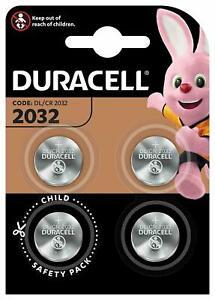 Piles Duracell Boutons x4 Lithium Cr2032 3V Longue Durée Montre Télécommande FR