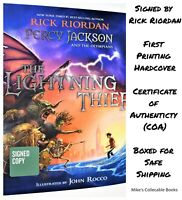 !!SIGNED 1st PRINT!! The Lightning Thief Illustrated Ed Rick Riordan hx NEW