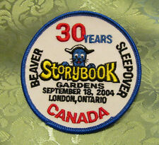 Boy Scouts Canada Storybook Gardens 2004 Embroidered Patch Beaver Sleepover