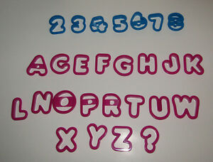 Cookie Cutters Numbers Letters Set of 27 Wilton Plastic Alpha