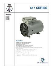 NEW Thomas Vacuum Veneer 1/8 hp Piston Air Compressor Pump 617CA22 Free S&H!!
