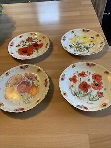Four British Legion Limited Edition Poppy Plates