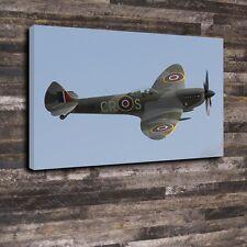 "Spitfire Printed Box Canvas A1.30""x20"".Deep 30mm Frame Aircraft Fighter Airforce"