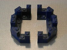 Lego Castle - 2 x Dark Blue Castle Turret Top 4 x 8 x 2 1/3 (6066)