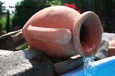 terracotta Amphore Brunnen Krug Wasserfall Wasserlauf 30 cm ohne Edelstahlrohr