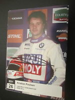 13245 Christian Poulsen original signierte Autogramm Karte Motorsport